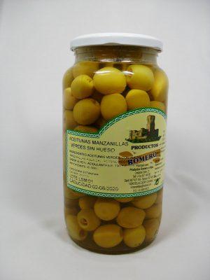 Aceitunas Manzanilla sin hueso - Productos Romero