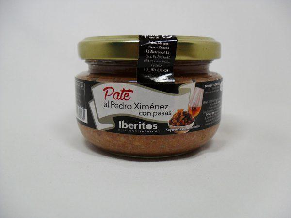 Paté al Pedro Ximénez con pasas 110gr - Iberitos